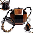 collectible handcarved laminated acacia wood slingbag  /