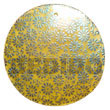 round 40mm yellow hammershell w/ handpainted design -