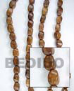 roble wood twist wood beads