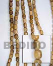 robles wood oval woodbeads